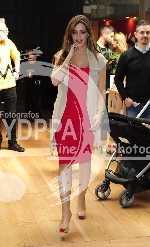 Spanish pregnant journalist Sara Carboreno promotes the event ( Sara is wife of the Oporto's Spanish goalkeaper Iker Casillas)