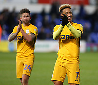 Preston North End's Callum Robinson applauds the fans at the final whistle <br /> <br /> Photographer David Shipman/CameraSport<br /> <br /> The EFL Sky Bet Championship - Ipswich Town v Preston North End - Saturday 3rd November 2018 - Portman Road - Ipswich<br /> <br /> World Copyright &copy; 2018 CameraSport. All rights reserved. 43 Linden Ave. Countesthorpe. Leicester. England. LE8 5PG - Tel: +44 (0) 116 277 4147 - admin@camerasport.com - www.camerasport.com