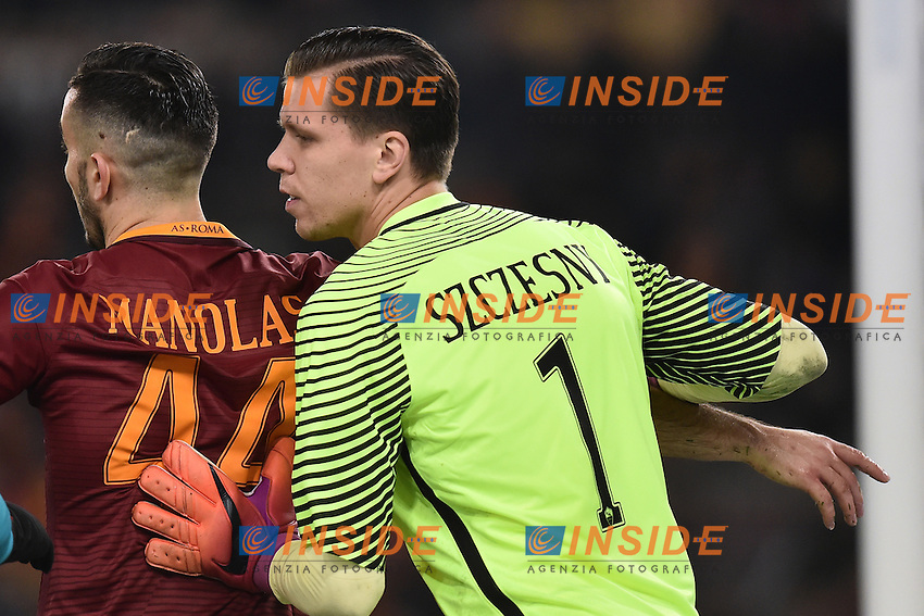 Wojciech Szczesny, Kostas Manolas Roma <br /> Roma 12-12-2016 Stadio Olimpico Football <br /> Campionato Serie A 2016/2017 <br /> AS Roma - Milan <br /> Foto Andrea Staccioli / Insidefoto