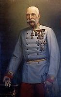 Europe/Autriche/Niederösterreich/Vienne: Portrait de l'Empereur Francois Joseph à l'Hôtel Sacher