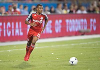 12 September 2012: Toronto FC midfielder Reggie Lambe #19 in action during an MLS game between the Chicago Fire and Toronto FC at BMO Field in Toronto, Ontario..The Chicago Fire won 2-1..