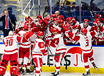 January 26, 2020: Sacred Heart prevails 4-1 upsetting the 17th ranked Bobcats of Quinnipiac in the Connecticut Ice Tourney. The inaugural event was held at the Webster Bank Arena in Bridgeport, Connecticut.  Heary/Eclipse Sportswire/CSM