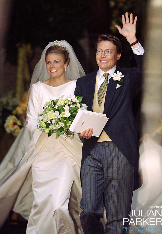 The church Wedding  of Prince Constantijn & Princess Laurentien of Holland, at Grote of St Jacobskerk, in Den Haag, Holland