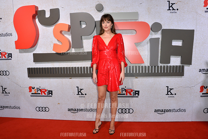 "LOS ANGELES, CA. October 24, 2018: Dakota Johnson at the Los Angeles premiere for ""Suspiria"" at the Cinerama Dome.<br /> Picture: Paul Smith/FeatureflashLOS ANGELES, CA. October 24, 2018: 4 at the Los Angeles premiere for ""Suspiria"" at the Cinerama Dome.<br /> Picture: Paul Smith/Featureflash"