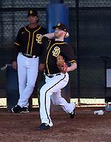 Chase Johnson - San Diego Padres 2020 spring training (Bill Mitchell)
