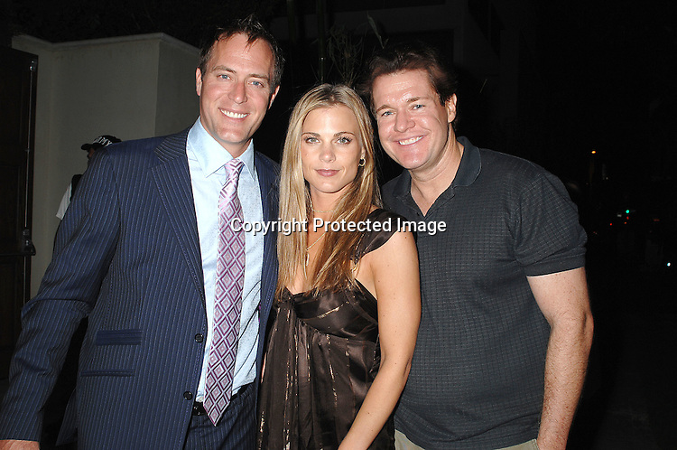 Robert Bogue, Gina Tognoni and Michael O'Leary..at The SOAPnet pre Emmy party on June 14, 2007 at ..Boulevard3 in Hollywood, California. ..Robin Platzer, Twin Images......212-935-0770