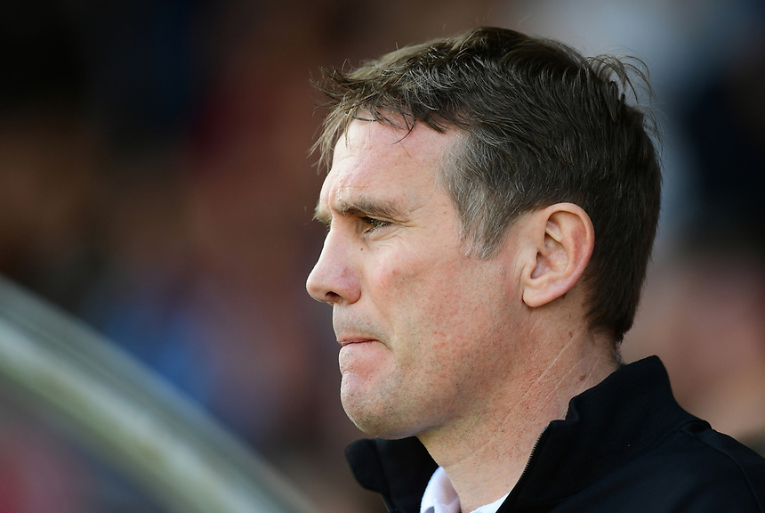 Bolton Wanderers manager Phil Parkinson <br /> <br /> Photographer Chris Vaughan/CameraSport<br /> <br /> The EFL Sky Bet League One - Scunthorpe United v Bolton Wanderers - Saturday 8th April 2017 - Glanford Park - Scunthorpe<br /> <br /> World Copyright &copy; 2017 CameraSport. All rights reserved. 43 Linden Ave. Countesthorpe. Leicester. England. LE8 5PG - Tel: +44 (0) 116 277 4147 - admin@camerasport.com - www.camerasport.com