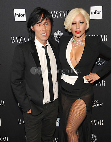 New York, NY-September 5: Lady Gaga and Stephen Gan attend Harper's Baazar Celebrates Icons By Carine Roitfeld on September 5, 2014 at the Plaza Hotel in New York City. Credit: John Palmer/MediaPunch