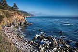 USA, California, Big Sur, Esalen, views of the Big Sur Coastline and the Pacific Ocean looking South, the Esalen Institite