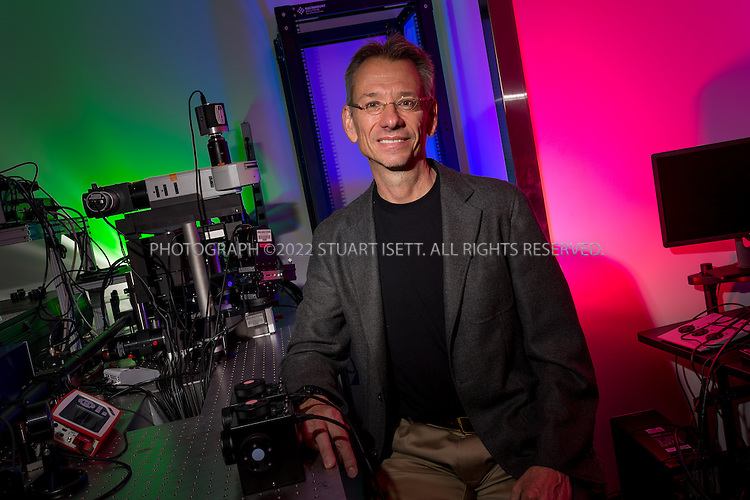 5/31/2013--Seattle, WA, USA<br /> <br /> Jay Neitz is professor of ophthalmology and a color vision researcher at the University of Washington in Seattle, Washington in the United States. According to Jay Neitz, each of the three standard color-detecting cone cells in the retina - blue, green and red -- can pick up about 100 different gradations of color. But, he says, the brain can combine those variations exponentially, multiplying each new variety of cone by 100, so that the average human trichromat can distinguish about one million different hues (SOURCE: WIKIPEDIA).<br /> <br /> &copy;2013 Stuart Isett. All rights reserved.