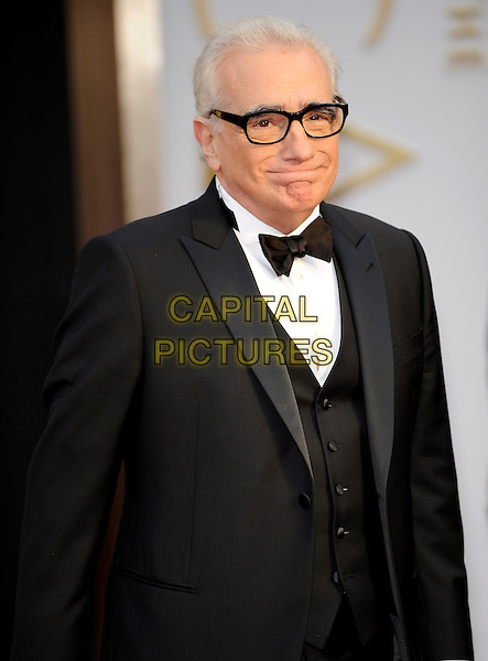 HOLLYWOOD, CA - MARCH 2: Martin Scorsese arriving to the 2014 Oscars at the Hollywood and Highland Center in Hollywood, California. March 2, 2014. <br /> CAP/MPI/COR99<br /> &copy;COR99/MediaPunch/Capital Pictures