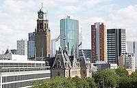 Nederland Rotterdam 2016 . Skyline van Rotterdam. Op de voorgrond het Stadhuis.  Foto Berlinda van Dam / Hollandse Hoogte