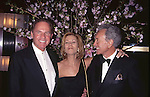 Frank Gifford, Kathie Lee Gifford and Vic Damone attend Rainbow & Stars on 4/18/1996  in New York City.