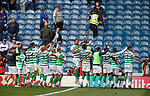 01.09.2019 Rangers v Celtic: Christopher Julien leads the Celtic celebrations