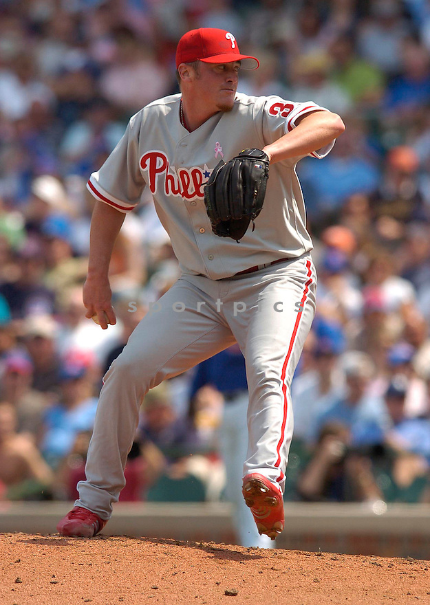Brett Myers of the Philadelphia Phillies during action against the Chicago Cubs...Phillies win 3-2..Chris Bernacchi / SportPics