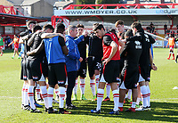 Grimsby Town assistant manager mickey moore pre match team talk <br /> during the Sky Bet League 2 match between Accrington Stanley and Grimsby Town at the Fraser Eagle Stadium, Accrington, England on 25 March 2017. Photo by Tony  KIPAX / PRiME Media Images.