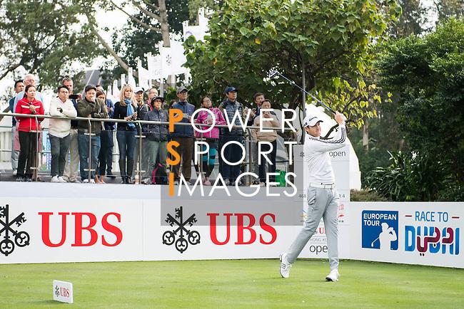 Steven Brown of England tees off during the day one of UBS Hong Kong Open 2017 at the Hong Kong Golf Club on 23 November 2017, in Hong Kong, Hong Kong. Photo by Marcio Rodrigo Machado / Power Sport Images