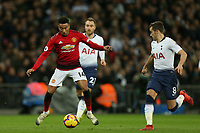 Jesse Lingard of Manchester United and Harry Winks of Tottenham Hotspur during Tottenham Hotspur vs Manchester United, Premier League Football at Wembley Stadium on 13th January 2019
