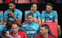 Top row (L-R) Kyle Bartley, Roque Mesa, Angel Rangel and Kristoffer Nordfeldt (C) during the Premier League match between Southampton and Swansea City at the St Mary's Stadium, Southampton, England, UK. Saturday 12 August 2017