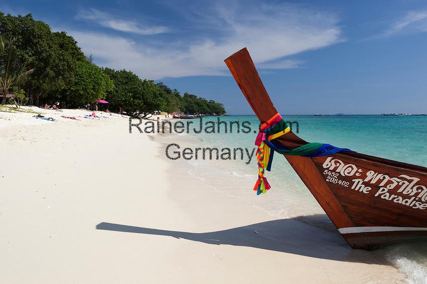Thailand, Krabi Province, Andaman Coast, Ko Phi Phi Island, Phi Phi Don Island: Long Beach   Thailand, Provinz Krabi, Andamanen Kueste, Ko Phi Phi Insel, Phi Phi Don Island: Long Beach