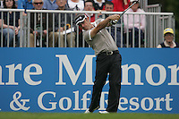 Paul McGinley tees off from the first hole during the third round of the 2008 Irish Open at Adare Manor Golf Resort, Adare,Co.Limerick, Ireland 17th May 2008 (Photo by Eoin Clarke/GOLFFILE)