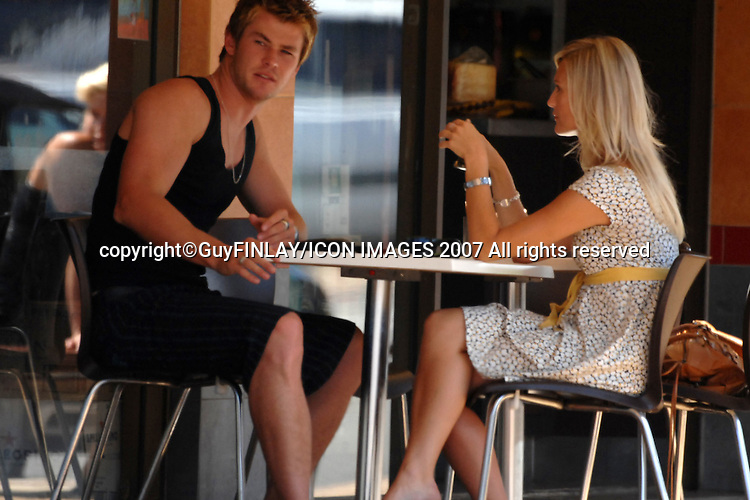 18th january, 2007-Sydney, Australia.EXCLUSIVE.Actor Chris Hemsworth (Home & Away) & Kristy-Lee Lorraway ( Former WSFM Producer and now working  as a DJ on  ARN radio station network online radio station)..CONTACT PETER CARRETTE AT ICON IMAGES ON .PHONE:    (02) 9130 5064  .OR MOBILE : (0418) 44 66 94.OR EMAIL:   peter@iconimages.com.au..COPYRIGHT GUY FINLAY©2007... ONE TIME FIRST TIME USAGE / PUBLICATION OF IMAGES ATTACHED TO THIS EMAIL or FTP FILE TRANSFER. FIRST  RIGHTS APPLY. NO WEB SITE AND NO ARCHIVE FILE USAGE FROM IMAGES ATTACHED FROM THIS EMAIL UNLESS PRIOR APPROVAL IS GRANTED BY GUY FINLAY - FEES APPLY.  FEES APPLY IF CONDITIONS ARE NOT FOLLOWED...BY ACCEPTING HIGH OR LOW RES IMAGES TRANSMISSIONS MEANS YOU AGREE TO THE ABOVE TERMS AND CONDITIONS. . .GUY FINLAY..   PHONE +61403 551 522 .Copyright ©GUY FINLAY 2007 - All Rights Reserved..EMAIL 1: glisseur@tpg.com.au.EMAIL 2: guy@iconimages.com.au.