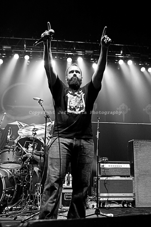 Clutch live in concert at Verizon Theatre on October 30, 2010 in Grand Prairie, TX.  Opening for Black Label Society.