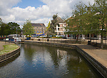 River Thet flowing through Thetford, Norfolk, England