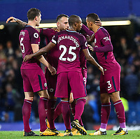 Manchester City players celebrate after winning the Premier League <br /> Calcio Chelsea - Manchester City Premier League <br /> Foto Phcimages/Panoramic/insidefoto