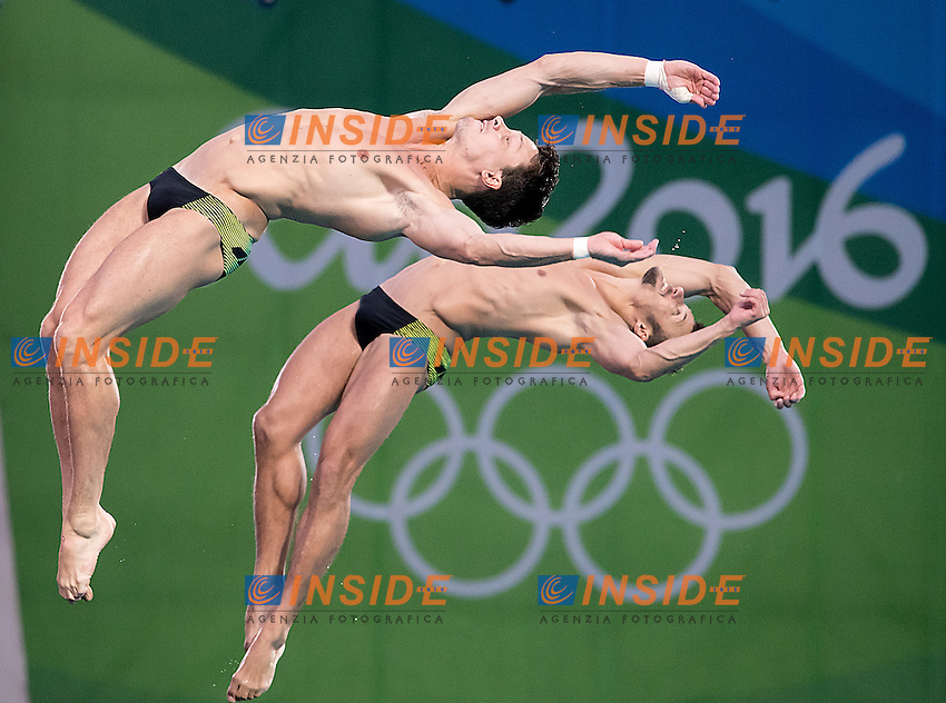 Team GER  HAUSDING Patrick KLEIN Sascha<br /> 10m platform synchro men<br /> Rio de Janeiro  XXXI Olympic Games <br /> Olympic Aquatics Stadium <br /> diving 08/08/2016<br /> Photo Giorgio Scala/Deepbluemedia/Insidefoto