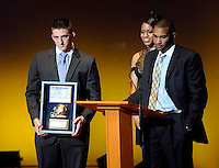 Kyle Brinzda Special Teams Player of the Year during the football show The Echoes 2013 Friday Dec. 13, 2013 at the DeBartolo Performing Arts Center on the campus of the University of Notre Dame South Bend, Ind.(Photo by Joe Raymond)