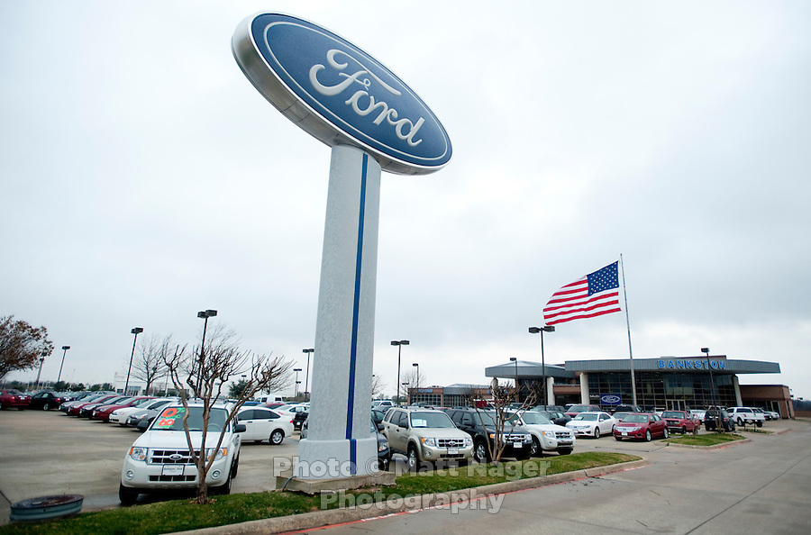 Bankston Ford in Frisco, Texas, Thursday, Jan., 28, 2009. Ford reported gains in earnings for the first time in four years...PHOTOS/ Matt Nager