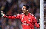 Goalkeeper Keylor Navas of Real Madrid gestures during the UEFA Champions League 2017-18 match between Real Madrid and Tottenham Hotspur FC at Estadio Santiago Bernabeu on 17 October 2017 in Madrid, Spain. Photo by Diego Gonzalez / Power Sport Images