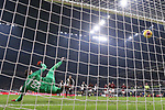 Cristiano Ronaldo of Juventus scores from the penalty spot to level the game at 1-1 during the Coppa Italia match at Giuseppe Meazza, Milan. Picture date: 13th February 2020. Picture credit should read: Jonathan Moscrop/Sportimage