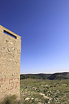 Israel, Menashe Heights, concrete watchtower built in 1938 to protect Yokneam