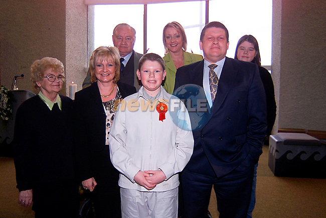 Ronon Caswell with his Famliy in Laytown Church for his Confirmation...Pic Tony Campbell/Newsfile