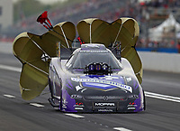 Apr 20, 2018; Baytown, TX, USA; NHRA funny car driver Jack Beckman during qualifying for the Springnationals at Royal Purple Raceway. Mandatory Credit: Mark J. Rebilas-USA TODAY Sports