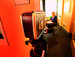 An old Bell & Howell super 8 movie camera in the offices of Tweedee Productions.