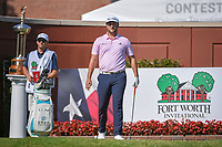 Jon Rahm (ESP) looks over his tee shot on 1 during round 3 of the Fort Worth Invitational, The Colonial, at Fort Worth, Texas, USA. 5/26/2018.<br /> Picture: Golffile | Ken Murray<br /> <br /> All photo usage must carry mandatory copyright credit (&copy; Golffile | Ken Murray)