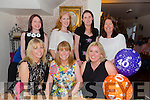 Celebrating her 40th birthday with friends on Saturday night at Bella Bia's was Sharon Conway from O'Rahilly's Villa Tralee.Pictured l-r Mandy Hale,Sharon Conway(birthday girl) and Lorraine Noonan.Back l-r Jackie Hurley,Trisha Ladden,Ger Kerrisk and Tara Cullinane