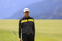 Daniel Im (USA) walks off the 7th green during Sunday's Final Round of the 2017 Omega European Masters held at Golf Club Crans-Sur-Sierre, Crans Montana, Switzerland. 10th September 2017.<br /> Picture: Eoin Clarke | Golffile<br /> <br /> <br /> All photos usage must carry mandatory copyright credit (&copy; Golffile | Eoin Clarke)
