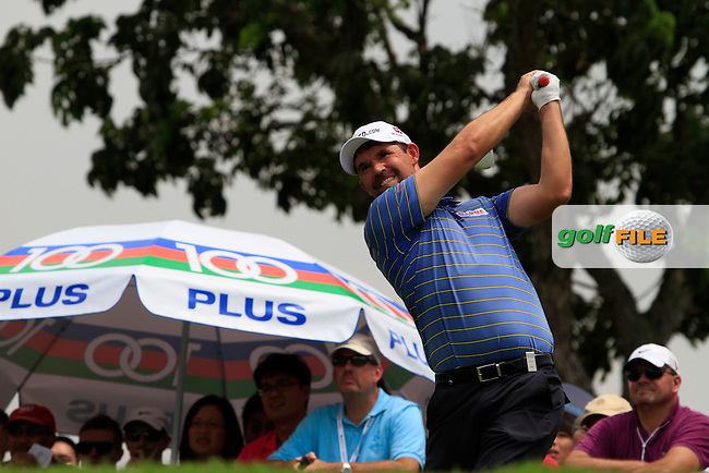 Padraig Harrington (IRL) on the 13th tee during the continuation of Round 2 which was delayed due to storm warnings at the Barclays Singapore Open, Sentosa Golf Club, Singapore. 10/11/12..(Photo Jenny Matthews/www.golffile.ie)