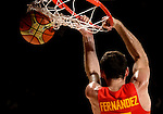 Spain's forward Rudy Fernandez during the 2014 FIBA World basketball championships quarters of final match Spain vs France at the Palacio de los Deportes in Madrid on September 10, 2014.  PHOTOCALL3000 / DP