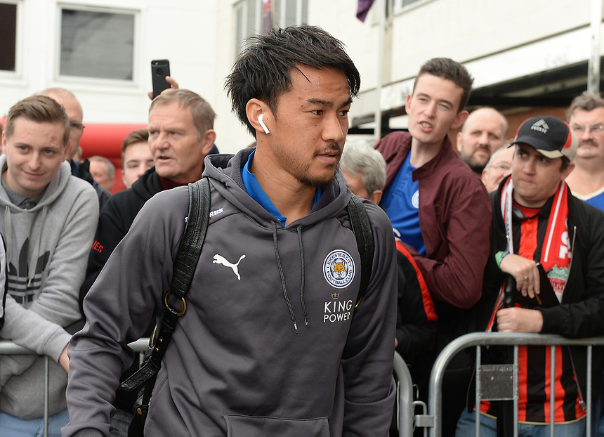 Leicester City's Shinji Okazaki arrives at Bournemouth's Vitality Stadium prior to the start of the game <br /> <br /> Photographer Ian Cook/CameraSport<br /> <br /> The Premier League - AFC Bournemouth v Leicester City - Saturday 30th September 2017 - Vitality Stadium - Bournemouth<br /> <br /> World Copyright &copy; 2017 CameraSport. All rights reserved. 43 Linden Ave. Countesthorpe. Leicester. England. LE8 5PG - Tel: +44 (0) 116 277 4147 - admin@camerasport.com - www.camerasport.com