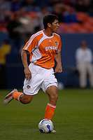 Houston Dynamo forward Brian Ching was the lone goal scorer. The Houston Dynamo beat the Colorado Rapids 1-0 on a goal by Brian Ching, April 29, 2006, at Invesco Field at Mile High Stadium in Denver, Colorado.