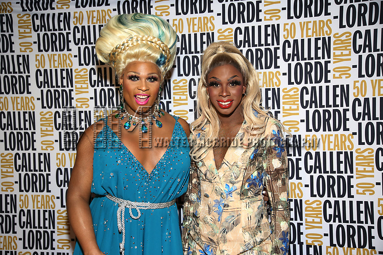 Peppermint and Honey Davenport during the GLOW: 50 Years of Callen-Lorde at Union Park on May 31, 2019  in New York City.