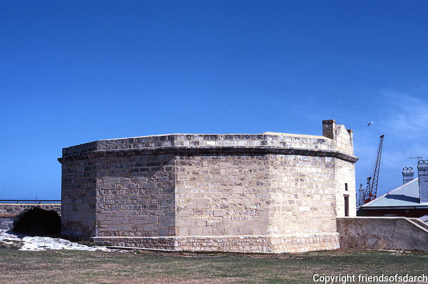 Fremantle: The Old Round House Jail, 1831. Designed by Henry Willey Reveley for minor offenders!. Influence of Jeremy Bentham. Photo '82.