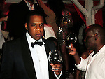 **EXCLUSIVE**.Jay Z and LA Reid..New Year's Eve Party with Special Performance by Beyonce Knowles..Nikki Beach Restaurant..St Barth, Caribbean..Thursday, December 31, 2009..Photo By Celebrityvibe.com.To license this image please call (212) 410 5354; or Email: celebrityvibe@gmail.com ; .website: www.celebrityvibe.com.