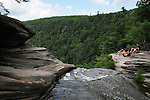 View of the top of Kaaterskill Falls in Catskill Mountains near North Lake State Park on Tuesday, July 12, 2011. Photos by an unnamed hiker. Copyright Jim Peppler/2011.