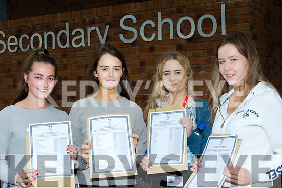 Leaving Together<br /> ------------------------<br /> Girls from Miltown secondary school  look so happy after getting their Leaving cert results yesterday, L-R Natalie Cotter, Nicole Murphy, Ciara O'Shea and Lorna McCarthy.